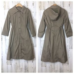 Jackets & Blazers - Japanese Fitted Hooded Tan Trench Coat